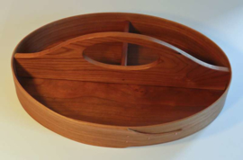 Traditional Shaker Tray in Cherry (3 compartimenten, 32x23x6cm)