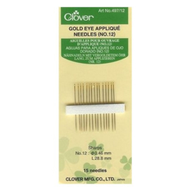 Clover 497.12 GoldEye applique naalden nr. 12