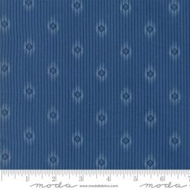 Moda Basic Minick & Simpson Crystal Lake Blue Diamond Stripes 14874 11