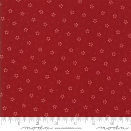 Moda Basic Primitive Gatherings Star Stripe Gath Red 1264 15