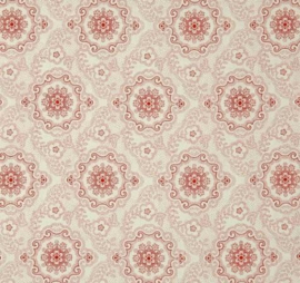 Quilting Treasures Colebrook Antiquities 26012-ER Large Cream-Red Medaillons