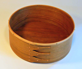 Crown Box in Cherry met Ash Rim (23x8cm)