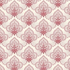 Quilting Treasures Colebrook Antiquities 26013-ER Cream-Red Floral Medaillons