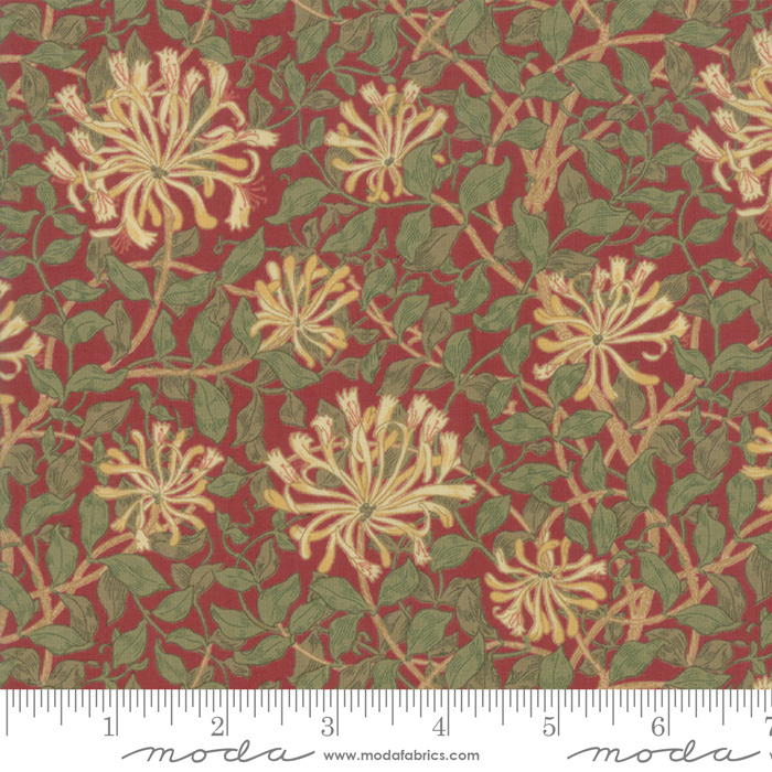 Moda V & A May Morris Studio Crimson 7347-14