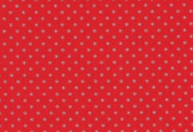 Westfalenstoffe 010507062 Blumen-Hamburg  rood-wit