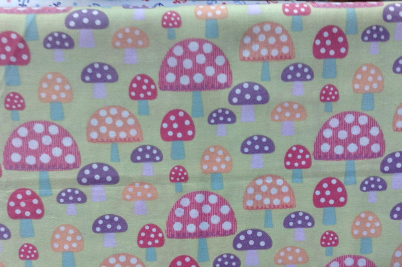 3 Wishes fabric Pippit Mosbey Mushrooms Green RN118678
