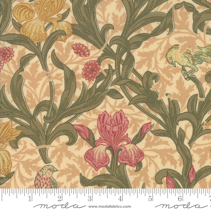 Moda V & A May Morris Studio Cream 7340-11