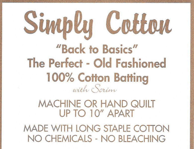 "Batting Simply Cotton - 100% katoen  Queen  240cm x 270cm // 96""x108"""