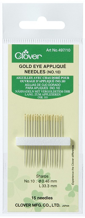 Clover 497.10 GoldEye applique naalden nr. 10