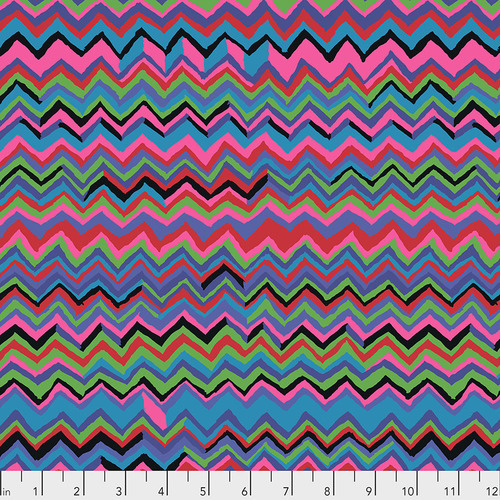 Kaffe Fassett Collective for Free Spirit PWBM043.Zigzag Carnival February 2020