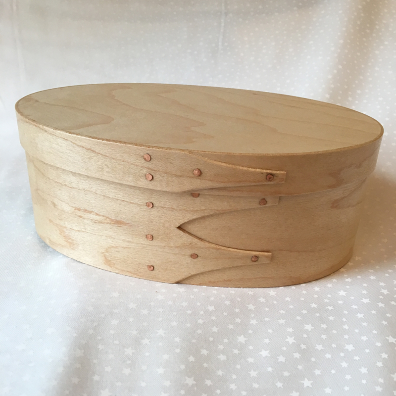 Shaker Box traditional Oval box in Maple 18x11.5x7