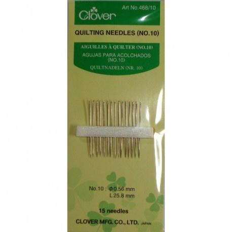 Clover 468.10 Quilting naalden nr. 10