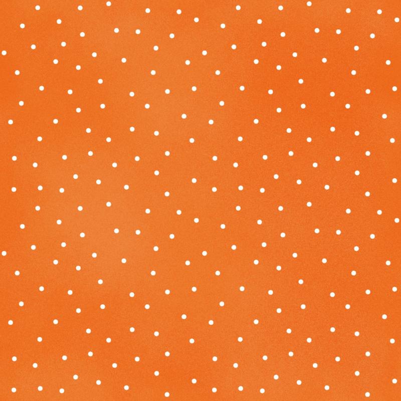 Adlico Maywood Studio Beautiful Basics Scattered Dot MAS8119-O2 Tangerine