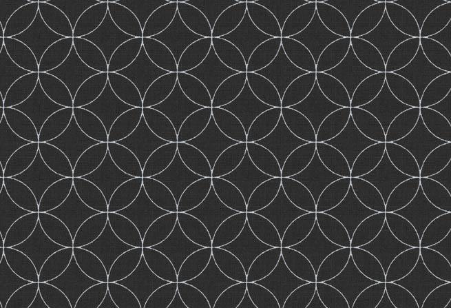 Westfalenstoffe 010507512 Kopenhagen Kreise zwart-wit