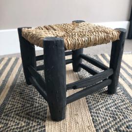 Marokkaans krukje mat zwart