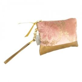 Toilettas Crosby goud en roze