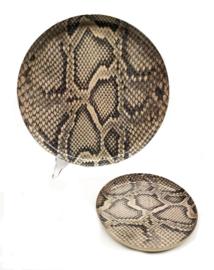 Bord slangenprint roze Ø 32 cm