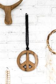 Peace mala mini black