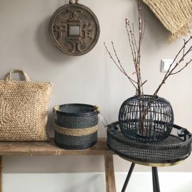Round basket zwart of wit