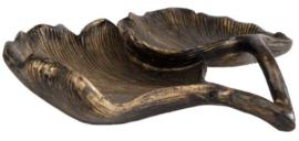 Bronskleurige schaal Ginko