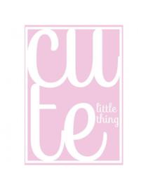 Ansichtkaart a cute Little thing roze