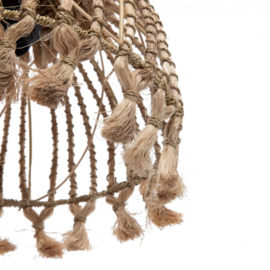 The Abaca Tassel Pendant - Natural - S