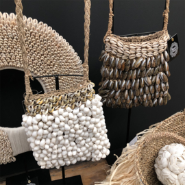 The shell purse on stand