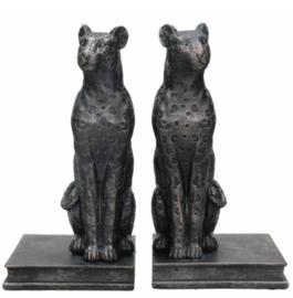Boekenstandaard luipaard zwart  (setprijs)
