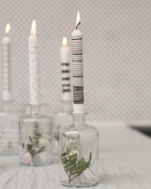 Kaarsen zwart/wit met hippe print