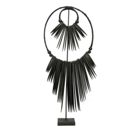 The wooden cuttlefish on stand - Black-L