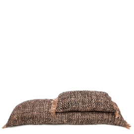 Kussen zwart/bruin 35 x 100 cm