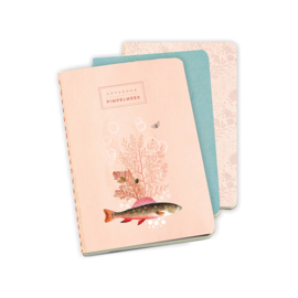 Notebook 3-set Pimpelmees softcover