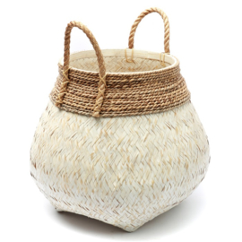 The Belly Basket Natural white L