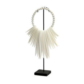 The wooden cuttlefish on stand - White-S