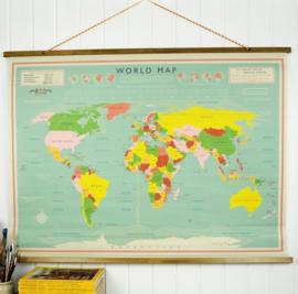 Wereldkaart vintage