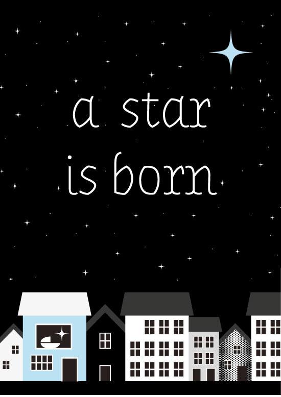 Ansichtkaart a star is born