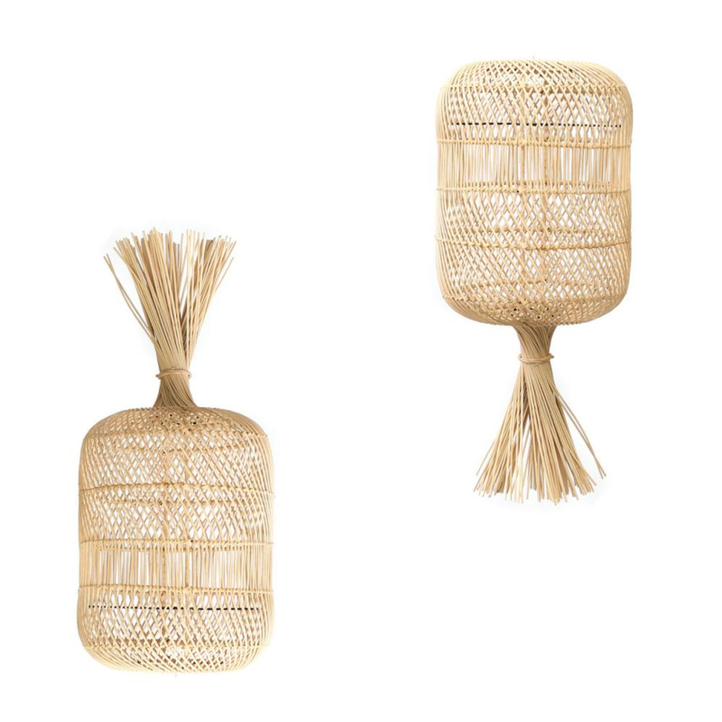 The Dumpling Floor Lamp - Pendant - Natural