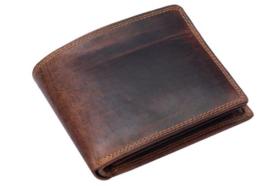 Heren Portemonnee Bruin/ Cognac - BB-Bilfold - RFID - Echt Leer