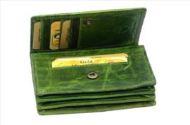 Dames Overslag portemonnee Groen - Met RFID - echt leer