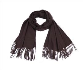 Warme Dames Sjaal Zwart