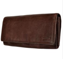 Dames portemonnee Bruin - Echt Leer