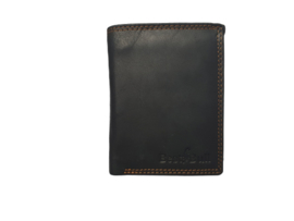 Best Bull Heren Portemonnee Zwart - hoog/klein model - Echt Leer