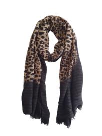 Dames Sjaal Panter Zwart