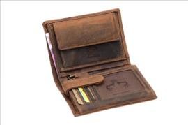 Heren Portemonnee -Bilfold - Cognac/Bruin - hoog model - Echt Leer - RFID