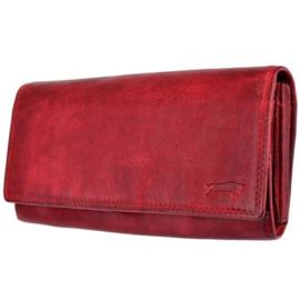 Dames portemonnee Rood - Echt Leer