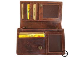 Dames  Overslag portemonnee Bruin - Met RFID - echt leer