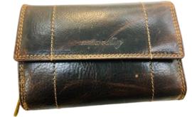 Napa Valley Dames portemonnee Bruin - Met RFID - Echt Leer