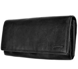 Dames portemonnee Zwart - Echt Leer