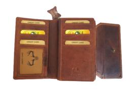 Dames portemonnee cognac/bruin - Met RFID - Echt Leer