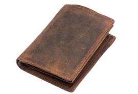 Heren Portemonnee BB -Bilfold - Cognac/Bruin - hoog model - Echt Leer - RFID